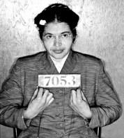 Rosa Parks Mugshot, Montgomery Bus Boycott, 1955