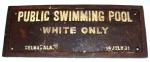 Whites Only Swimming Pool, Selma, Alabama, July 14, 1931