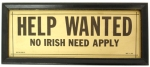 No Irish Need Apply, Boston 1915
